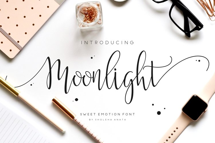 Moonlight Script Font example image 1