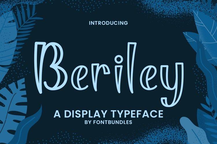 Web Font Beriley