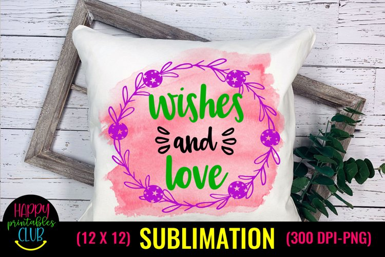 Wishes and Love- Christmas Sublimation Design Ideas example image 1