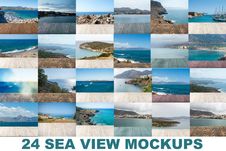 Sea View Outdoor Nature Background Mockup JPG example image 1