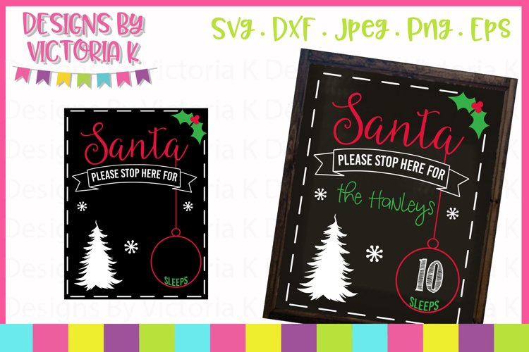 Christmas Countdown Chalkboard SVG Cut File example image 1