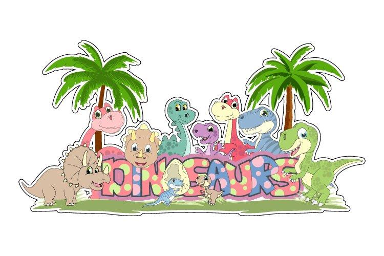 cute dinosaur cartoon example image 1