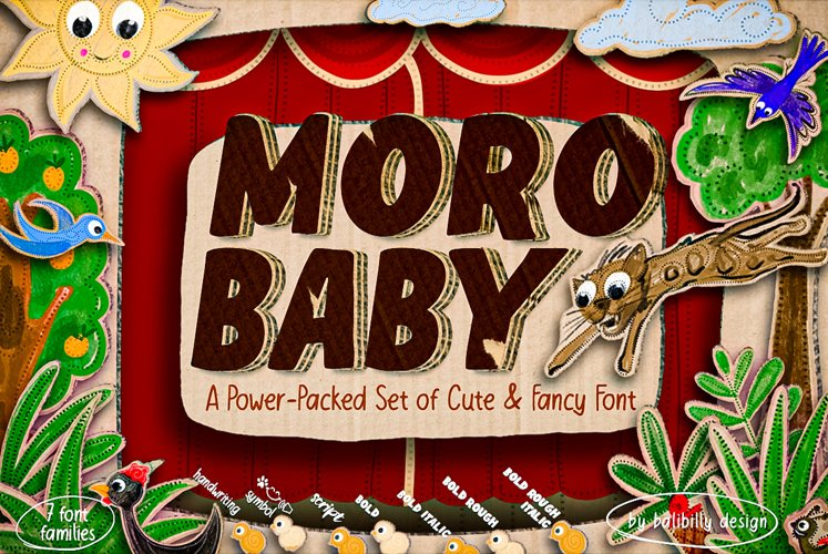 Moro Baby - A power-packed set of Cute & Fancy Font example image 1