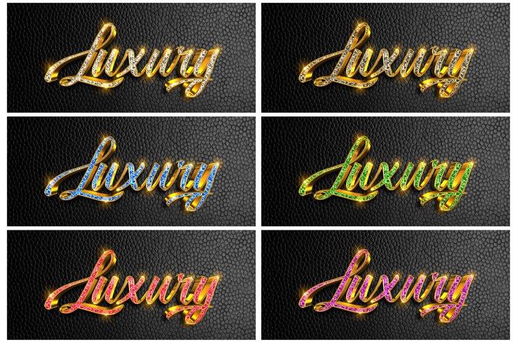 6 color 3d diamond Luxury text effect for photoshop