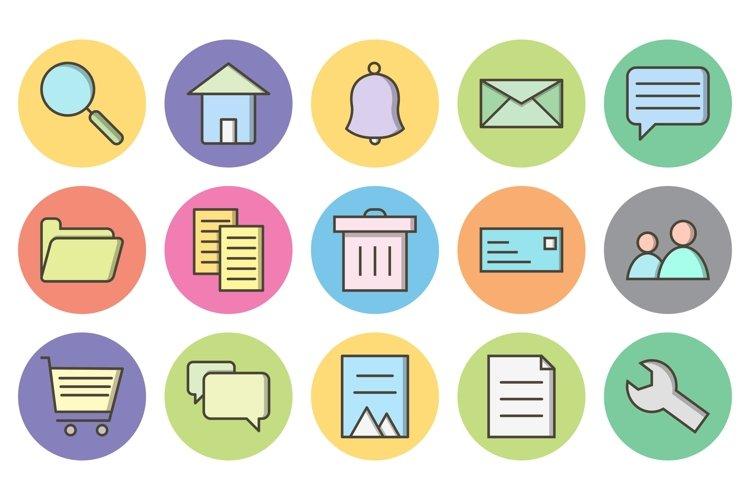 Set Of Basic Ui Icons example image 1