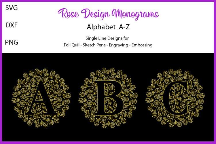 Monograms for Foil Quill|Single Line Design