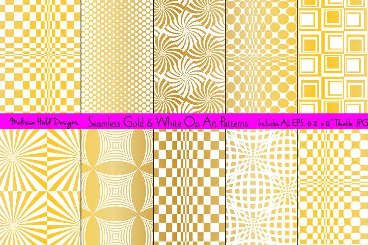 Seamless Gold Op Art Patterns