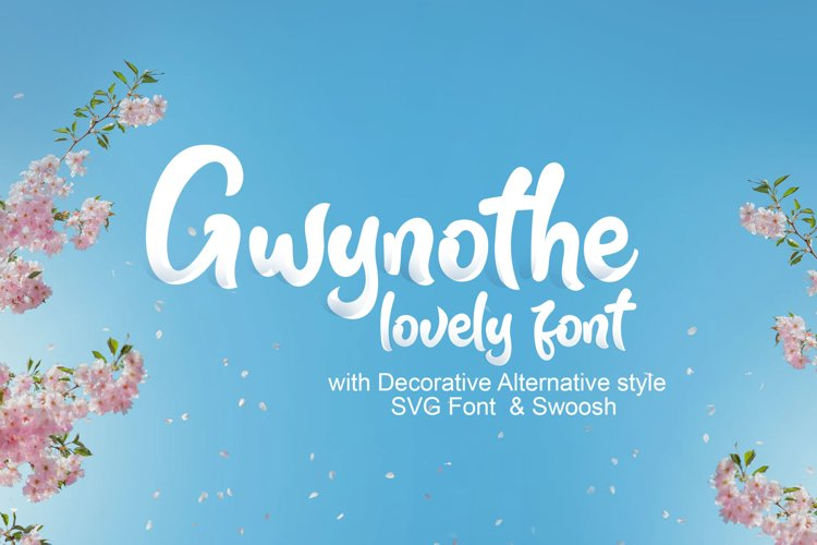 Gwynothe lovely font example image 1