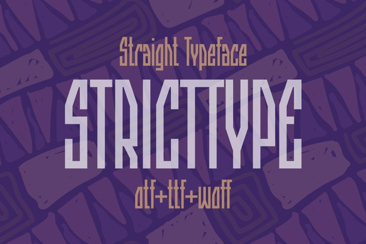 Stricttype font example image 1
