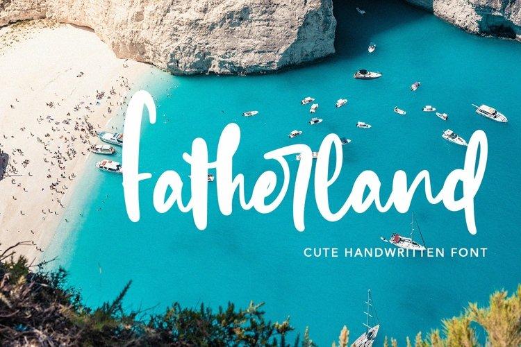 Web Font Fatherland - Cute Handwritten Font example image 1
