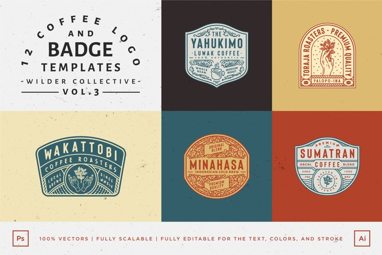 12 Coffee Logo and Badge Templates example image 1