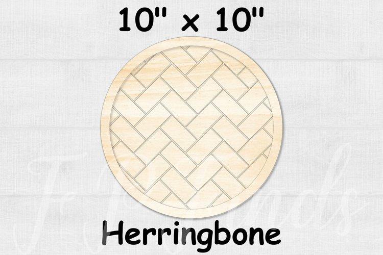 Glowforge SVG File - Herringbone Pattern Farmhouse Frames example image 1