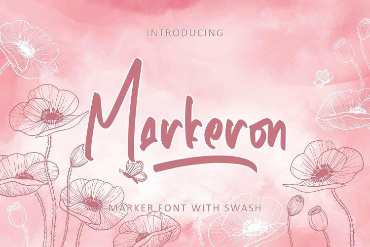 Web Font Markeron - Marker Font with Swash