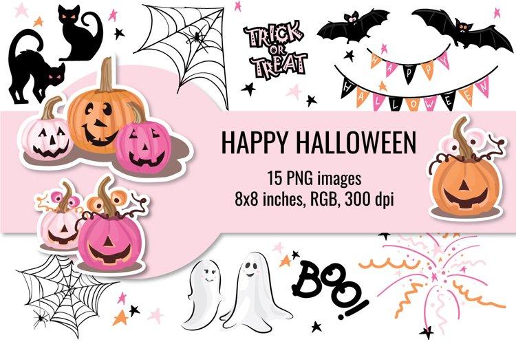 Cute Halloween Cliparts, Pink Halloween Clip art