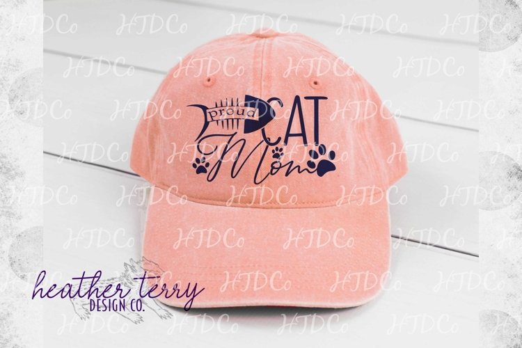 Proud Cat Mom svg, cat paw print, i love my cat