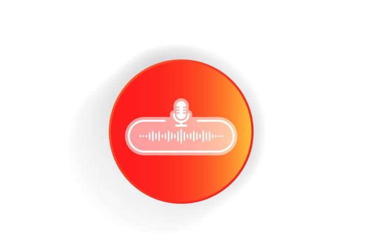 Podcast radio icon. Studio table microphone. example image 1