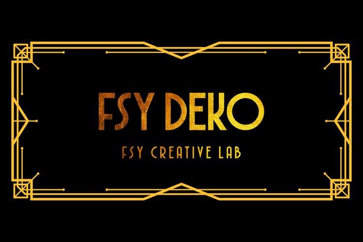 FSY Deko | Vintage Typeface example image 1