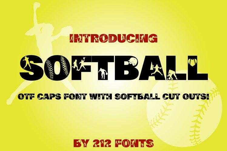 212 Softball Caps Display Font Softball Player Alphabet OTF example image 1