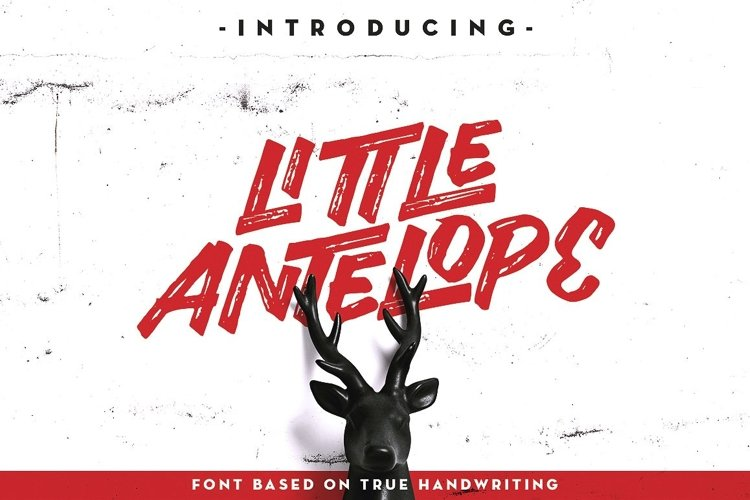 Web Font Little Antelope Font example image 1