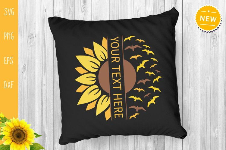 Sunflower Bundle Svg, Sunflower Svg, Sunflower Monogram Svg example 4