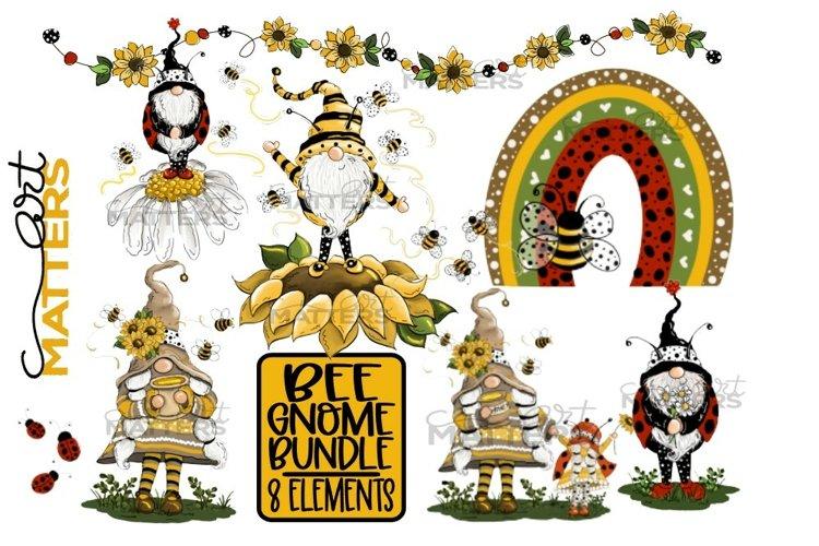 Bee Gnome Bundle 8 Elements - 300 DPI