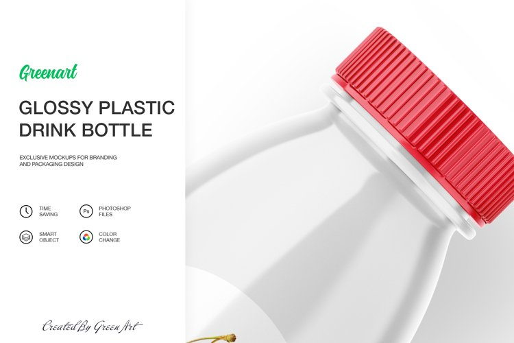 Glossy Plastic Bottle Mockup example 2
