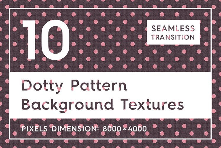 10 Dotty Pattern Background Texture example image 1