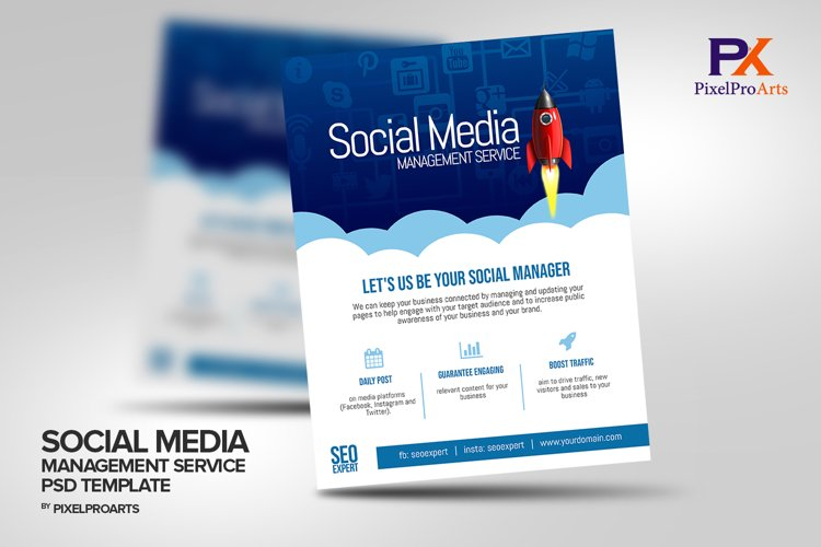Social Media Management Service Flyer Template example image 1