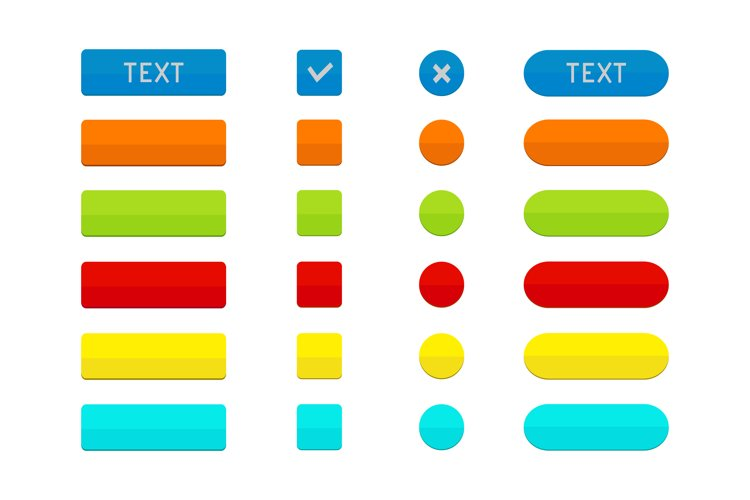 Set of colored web buttons example image 1