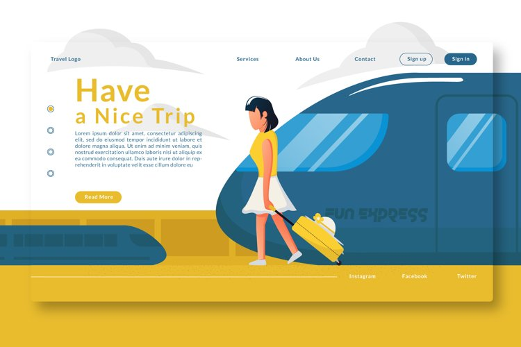 Have a Nice Trip Landing Page example image 1