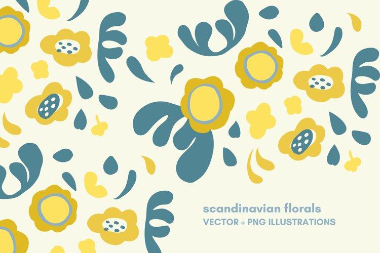 scandinavian flowers set example image 1