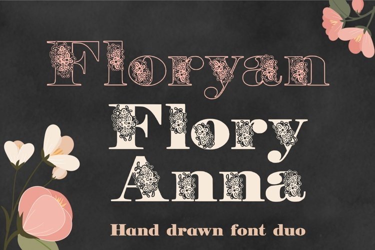Floryan & FloryAnna Font Duo example image 1