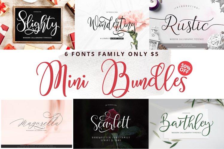 Mini Bundles 6 Fonts