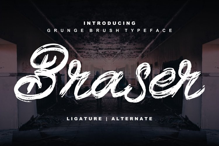 Braser   Grunge Brush Typeface example image 1