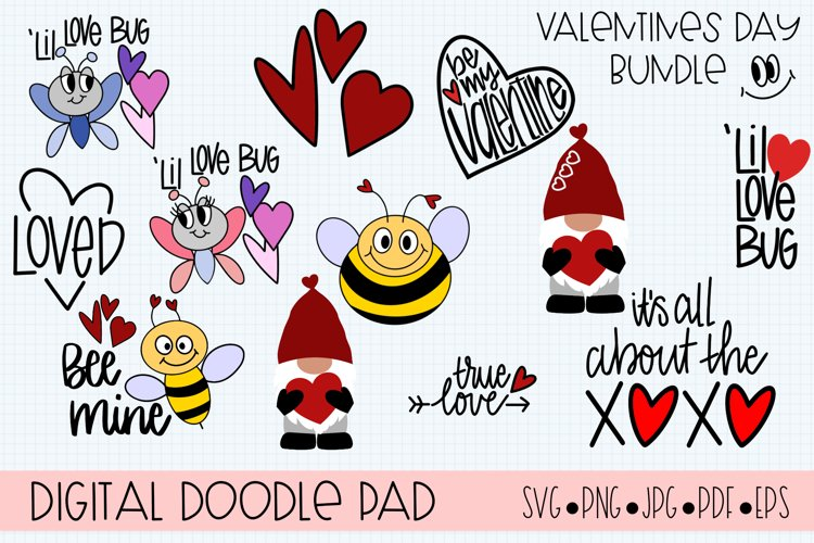 Valentines Day Bundle Gnome Hearts - Cricut & Silhouette Cut example image 1