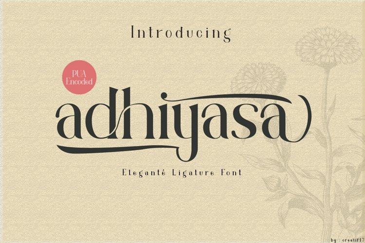 adhiyasa serif font example image 1