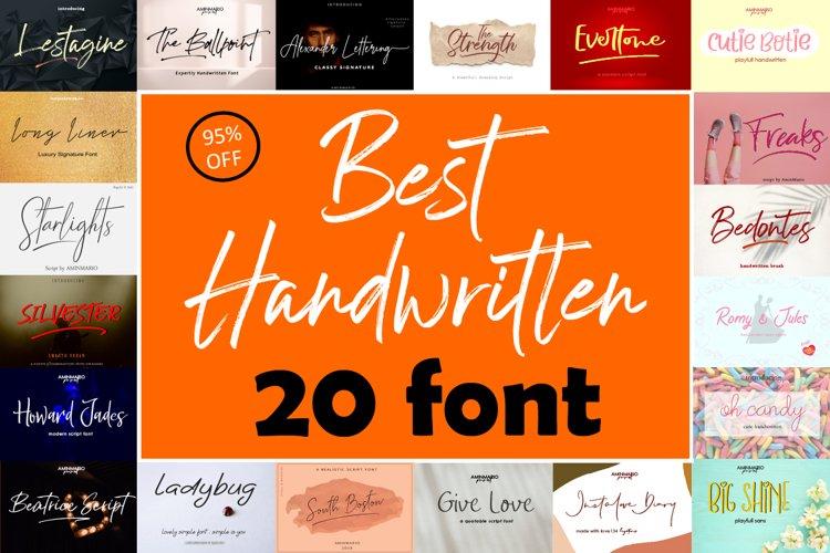 Best Handwritten Fonts Bundle example image 1