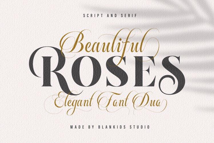 Beautiful Roses Duo Font example image 1