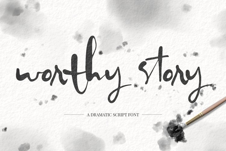 Worthy Story Script Font example image 1