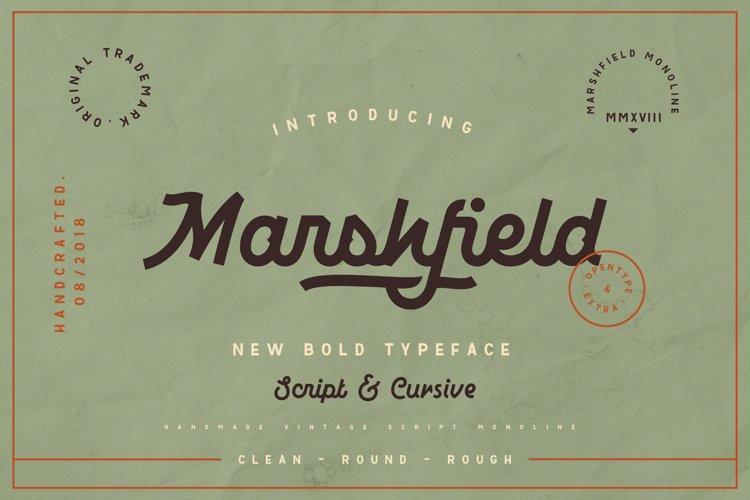 Marshfield Script example image 1
