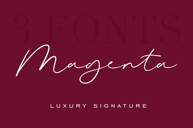 Magenta - 3 Luxury Signature Font example image 1