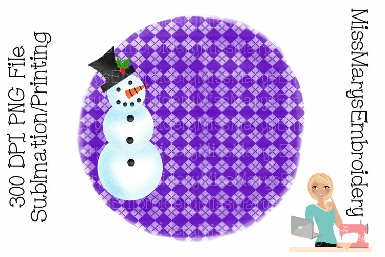 Snowman Sublimation | Sublimation Background | PNG example image 1
