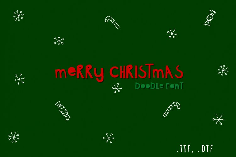 Christmas doodle font