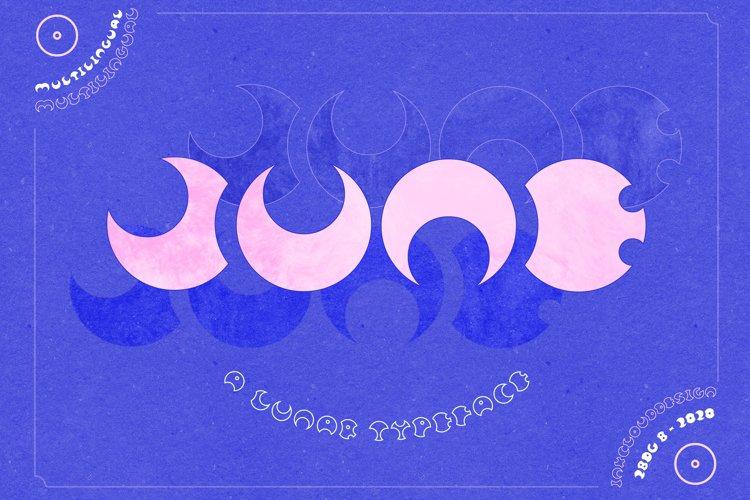 Retro Cyber Lunar Font Moon Typeface
