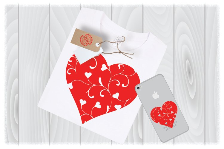 Floral Heart SVG Files for Cricut Designs | Valentine Svg example image 1