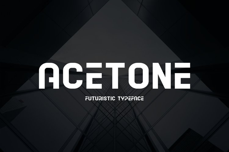 Acetone - Futuristic Typeface example image 1