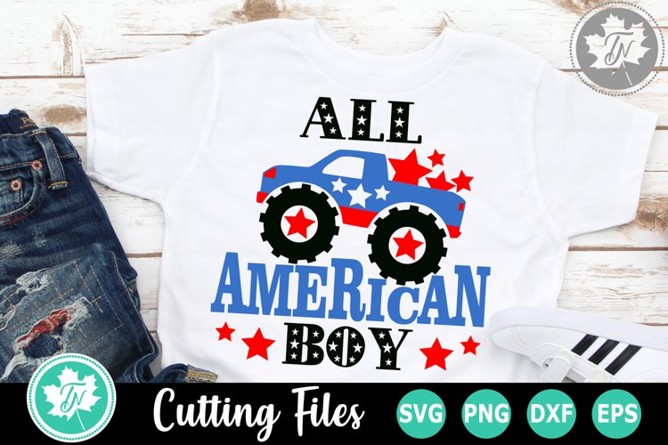 All American Boy - An Americana SVG Cut File example image 1
