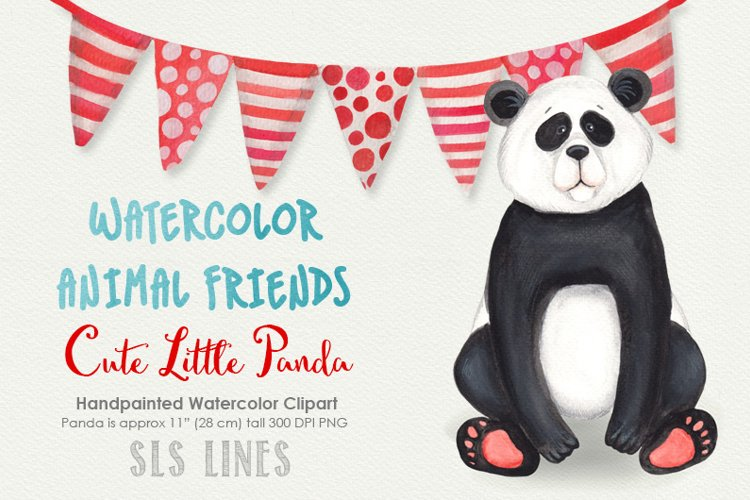 Cute Panda Watercolor Illustration example