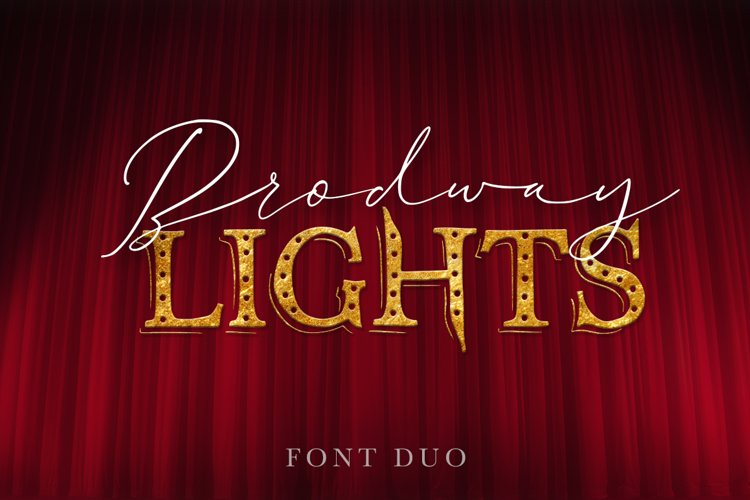 Broadway Lights. Duo font. example image 1