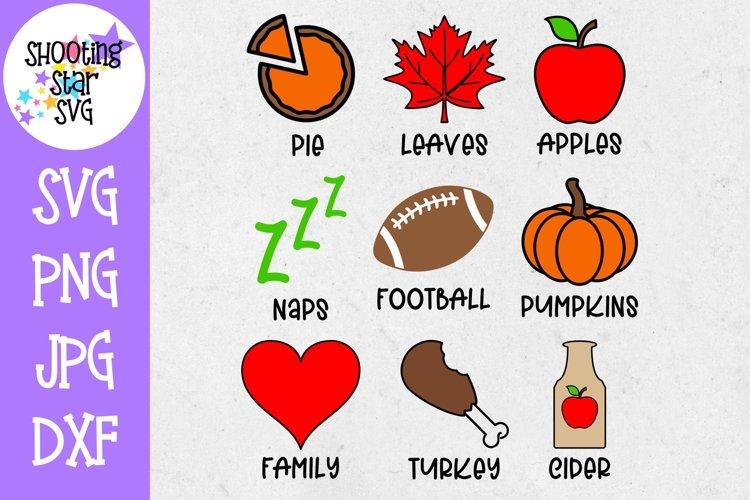 Autumn Symbols - Fall Icons Set SVG - Autumn or Fall SVG example image 1
